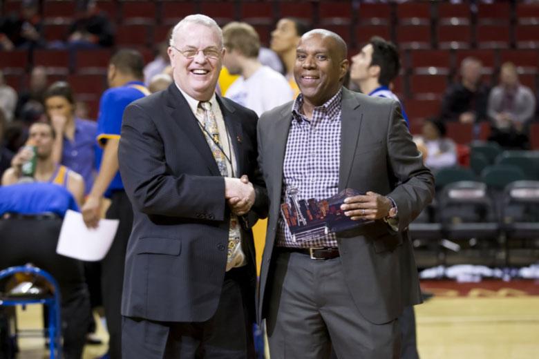 Dennis Cook receiving an award